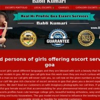 Goa Escorts  Party Goa Call Girls Services *-* Available - babli-kumaricom