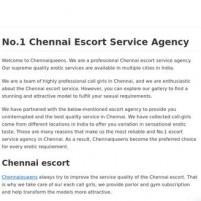 Best Chennai Escort Service Agency - #* Escort - chennaiqueens.in